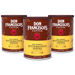 Don Franciscoand039s Butterscotch Toffee Flavored Ground Coffee 100 Arabica 3 X 12