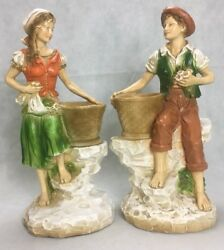 Vintage German Couple Statues Universal Statuary Corp Numbered Pieces Chicago