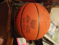 Kobe Bryant Signed 2001 Nba Finals Official Game Basketball Autograph Psa