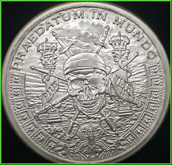 Pirate's Plunder Silver Shield Group 2oz Half Proof 2018 Ssg - Hard To Find