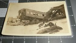 1923 Glenrock Wyoming Train Wreck Colorado And Southern Wy Crash Vintage Photo 2