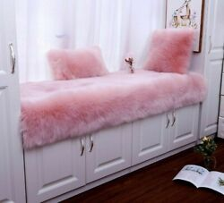 Window Carpets Thicken Non-slip Rugs Long Plush Solid Patterned Home Decorations