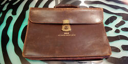 Vintage The Hoover Company Limited Salesmans Leather Briefcase Bag Decent Cond