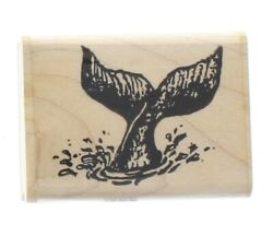 Fun Stamps 1989 A Whale Of A Tale Tail Nautical Ocean Wooden Rubber Stamp