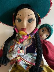 Vintage 1950s Peruvian Doll From Canchis Province, Marangani District 18 Tall