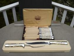 Briddell Carvel Hall 8 Piece Steak Knives And 2 Piece Carving Set In Gift Boxes