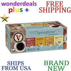 *New* VICTOR ALLEN 96-Count SPRING TIME VARIETY COFFEE PACK PODS Medium Roast
