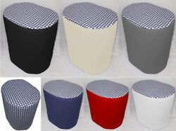 Navy Blue And White Checked Cover Compatible With Keurig Coffee Brewing Systems
