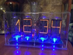 Homemade B7971 Nixie Clock With Wifi Connection And Scrolling Text Message B7971