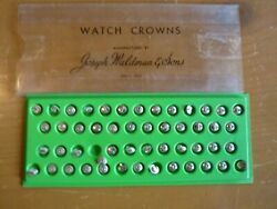Watchmakers Nos Elgin Watch Company Wristwatch Winding Crowns Group Of 50