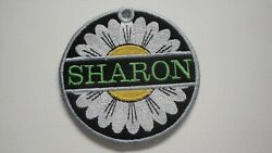 Personalized Bag Tag Daisy Embroidered with Your Name Great Gift Idea $19.95