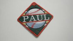Personalized Bag Tag Baseball Embroidered with Your Name Great Gift Idea $19.95