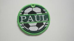 Personalized Bag Tag Soccer Ball Embroidered with Your Name Great Gift Idea $19.95