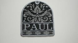 Personalized Bag Tag Damask Design Embroidered with Your Name Great Gift Idea $19.95