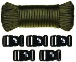 Friendly Swede Tactical Paracord 110' Parachute Cord 550 Cord Type Iii Buckles