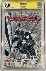 Venomverse 1 Signed By Stan Lee Cgc Ss 9.8 12000 Remastered Sketch Edition