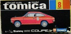 Tomy Tomica Diapet Sunny 1200coupe Gx 1/56 Sunny Coupe Gx Vintage Japanese Car