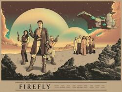 Nycc 2019 Firefly Cast Limited Poster Fine Screen Print Art 24 X 18