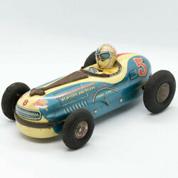 B.c Racing Car Tinplate Friction 180mm Long Made In Japan 1950s Vintage Toy