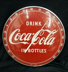 Vintage Wall Thermometer Coca Cola Drink Coca Cola In A Bottle