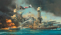 Morning Thunder - By Robert Taylor - Signed By Pearl Harbor Veterans