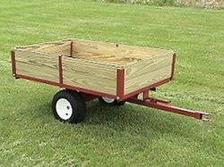 Landscape Trailer Wagon Dump Bed Lawn And Garden 5400 Made In The Usa