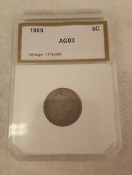 1883-1912s 5c Liberty V Nickel Complete Coin Set With Folder