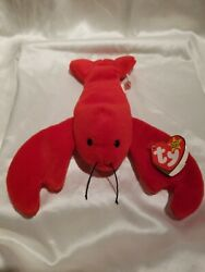 Rare Collectible Pinchers Red Lobster Style 4026 Ty Beanie Baby