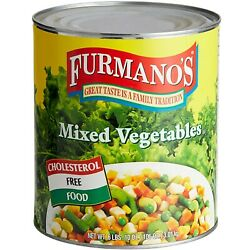 Furmanoand039s Bulk Supply Canned Gluten Free Mixed Vegetables - 6/case