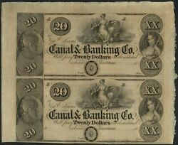 Unissued 20.00 No Canal And Banking Company Half Sheet – 1840's
