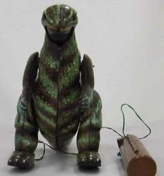 Bullmark Tin Toy Godzilla Appears Vintage Rare Glowing Eyes Used From Japan