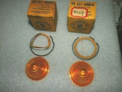 Set Of 2 Kd Lamp Company 2-1/2 Inch Amber Beehive Plastic Lenses 512 Nors