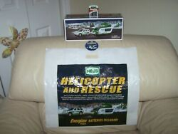 2012 Hess Helicopter And Rescue Combo- Truckbag Button Batteries-mib