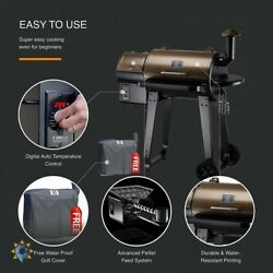 Wood Pellet Bbq And Smoker Grill Digital Controls Outdoor Cooking Bake Roast Set