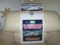 2006 Hess- Truck And Helicopter Combo- Truck,bag Button,batteries-mib