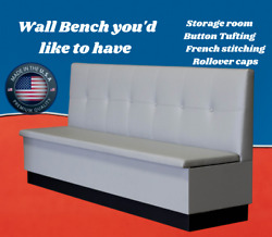 High Quality Restaurant Wall Bench Tufted Back 42 High Back With Storage Room