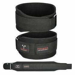 Weight Lifting Belt Black 5.5#x27;#x27; Lower Back Support Workout Belt for Men amp; Women