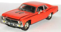 1969 69 Chevy Nova Ss 396 / Hood And Trunk Open = Rubber Tire/ Diecast Muscle Car