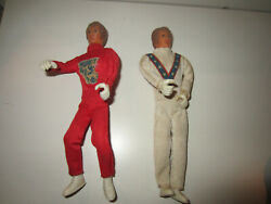 Evil Knievel Ideal 1972- 2 Action Figures 7 - Red Outfit And White Outfit