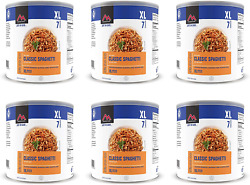 6 - Cans - Spaghetti With Meat Sauce - Mountain House Freeze Dried Food