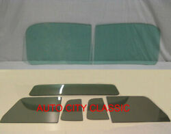 Glass 1948 - 1960 Willys Pickup Truck Green Windshield Grey Vent Door Small Back