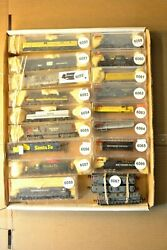 N Scale Cars Sold Individually Poor Quality Engines Up Cnw Sp Sf Atsf Penn