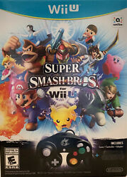 New Super Smash Bros Limited Edition Wii U Game, Controller And Adapter Sealed