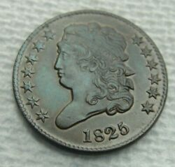 1825 Us Half Cent Amazing Details Nice Higher Grade Copper Coin