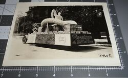 Amazing 1920's Firestone Tires Parade Float Muscle Man Truck Vintage 5x7 Photo