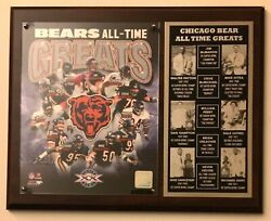Chicago Bears All Time Greats 8x10 Team Photo 12x15 Custom Wall Plaque