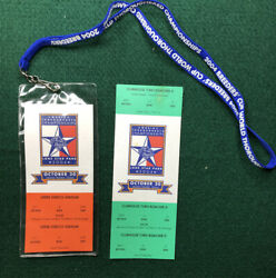 2004 Breeders' Cup Full Admission Ticket Lot W/ Lanyard Ghostzapper