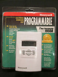 Honeywell Ct1950a 7-day Programmable White Thermostat Heat, New Sealed