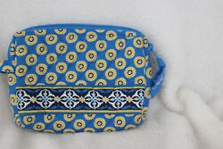 Vera Bradley Small Cosmetic Bag Riviera Blue Excellent preowned condition $9.50