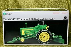 Ertl, John Deere Model 720 Tractor With 80 Blade And 45 Loader, Precision Classics